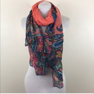 Colorful Semi Sheer Light Weight Scarf